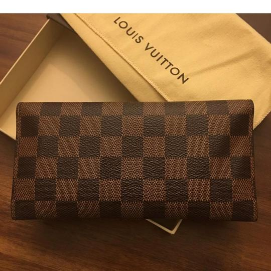 Louis vuitton brown josephine damier ebene canvas with red Louis vuitton fabric for car interior