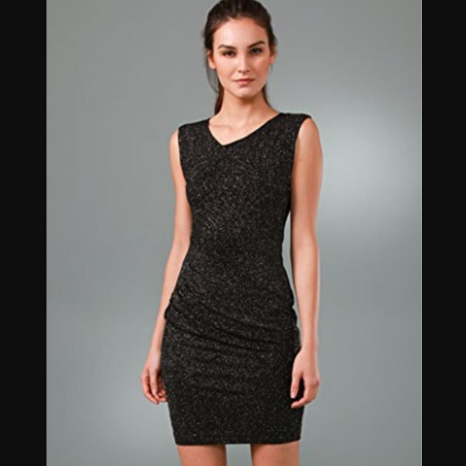 Alice olivia black annabelle seamed fitted short cocktail dress 123456789 ombrellifo Gallery