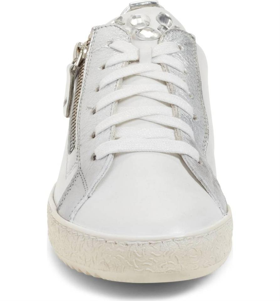 paul green white silver leather minnie sneaker sneakers. Black Bedroom Furniture Sets. Home Design Ideas