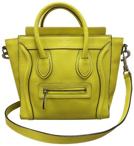 a8ad0abcd6c Céline Nano Calfskin Leather Tote Satchel in yellow
