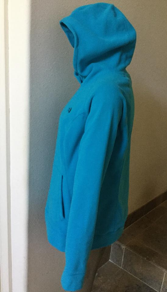 Turquoise north face hoodie