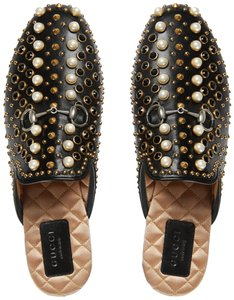 Gucci Princetown Pearl Studded Loafer black Flats