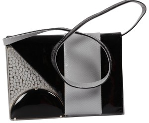 Giorgio Armani Flap Small Black, Gray Clutch