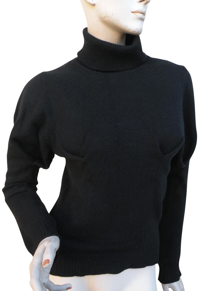 louis vuitton black cashmere small sweater pullover size 4. Black Bedroom Furniture Sets. Home Design Ideas