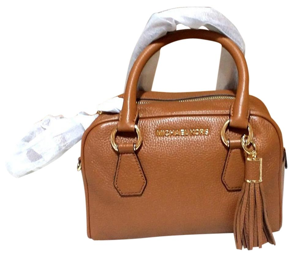 1a576cd44c42 Michael Kors Bedford Tassel Small Satchel Brown Leather Tote - Tradesy