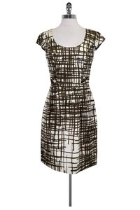 Trina Turk short dress White & Olive Print on Tradesy