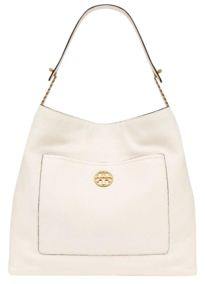 6cc042bdb9bb Tory Burch Chelsea Chain New Ivory Leather Hobo Bag - Tradesy