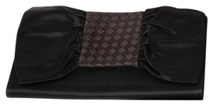 Bottega Veneta Magnetic Snap Small Black Clutch