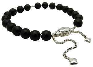 David Yurman David Yurman 8mm Black Onyx Bead Bracelet in Sterling Silver