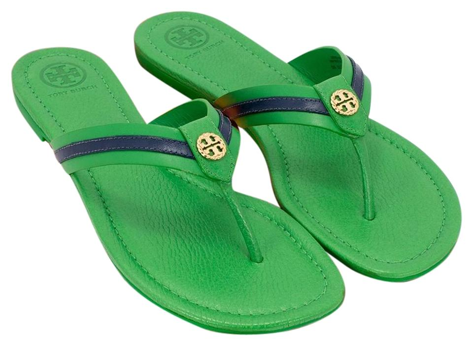 018095dd2e7 Tory Burch Court Green Navy Sea Maritime Thong Sandals. Size  US 8 Regular  ...