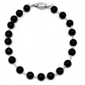 David Yurman Gorgeous Signed David Yurman Spiritual never Worn Black Onyx Matte Bead Bracelet.