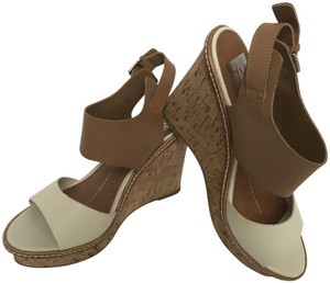 Dolce Vita Leather Brown Cork Wedges