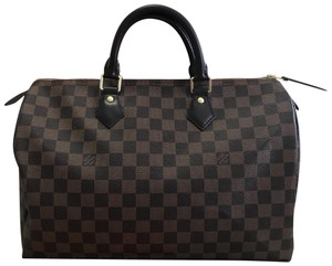 a500617dd87e Louis Vuitton Speedy Bandouliere Handbags Wallets Clutch Satchel in Damier  Ebene