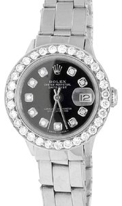 Rolex Ladies 26MM Datejust Oyster Perpetual Black Dial Diamond 2.5 Ct