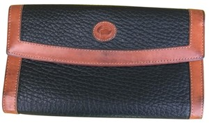 Dooney & Bourke black with brown leather Clutch