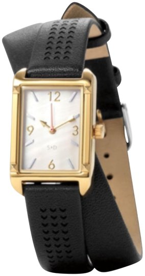 Preload https://item1.tradesy.com/images/stella-and-dot-pyramid-double-wrap-black-watch-22669325-0-1.jpg?width=440&height=440