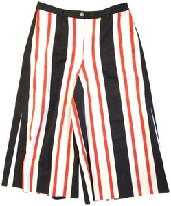 Dolce&Gabbana Wide Leg Pants Navy, White, Red
