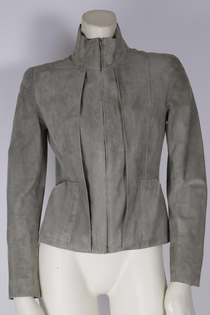 Chanel Cropped Gray Jacket
