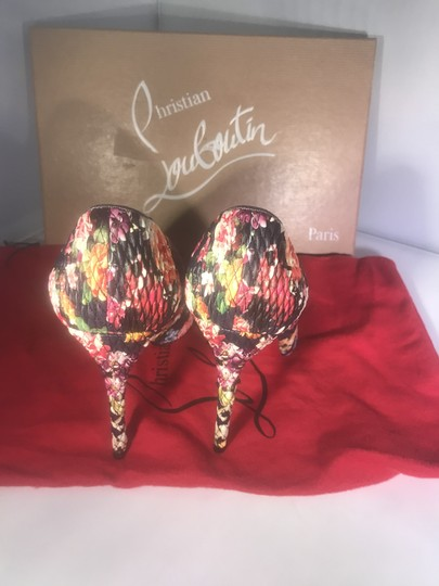 Christian Louboutin Stiletto Pigalle Follies Floral Quilted Multi Pumps