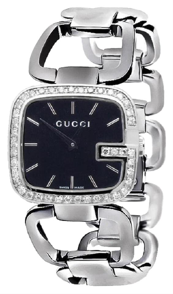 b0d806c2e9d Gucci Swiss Made YA125407 Black Dial 2CT Genuine Diamond Watch Image 0 ...