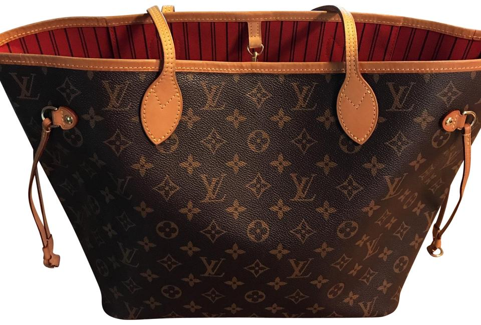414de8c218e2 Louis Vuitton Neverfull Mm New Model Monogram with Red Interior ...