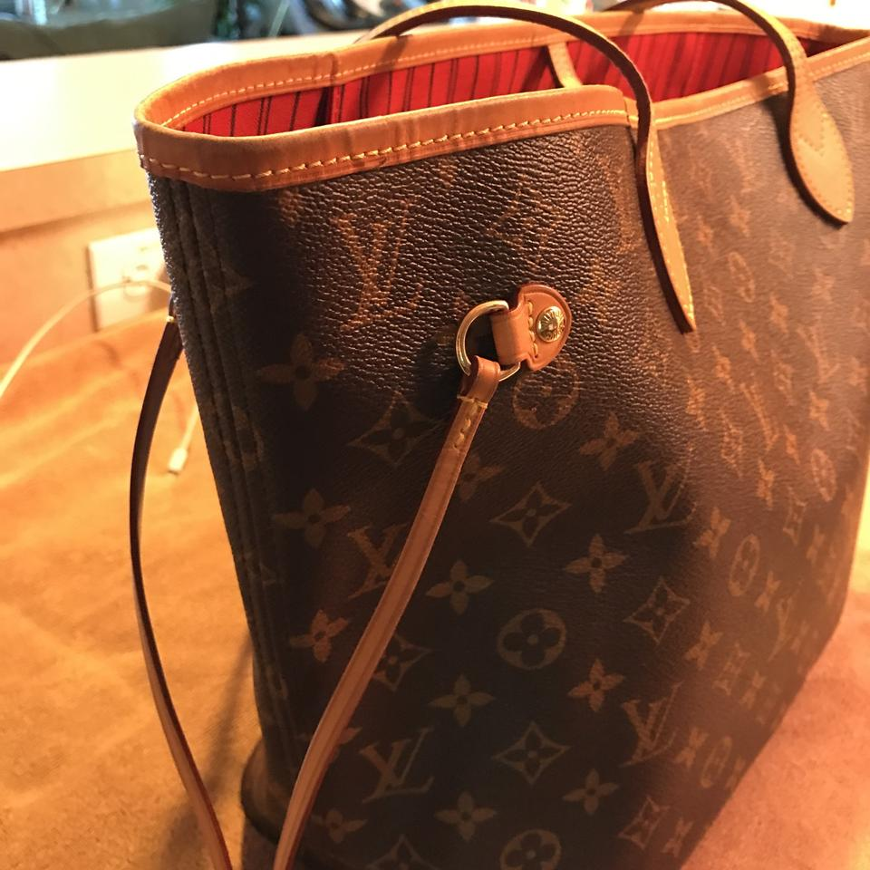 0467a3baf231 Louis Vuitton Neverfull Mm New Model Monogram with Red Interior Canvas and Leather  Tote - Tradesy