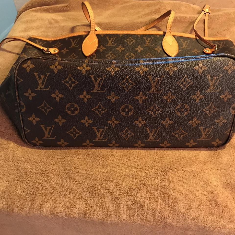 louis vuitton monogram with red interior canvas and leather neverfull tote tradesy. Black Bedroom Furniture Sets. Home Design Ideas