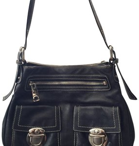 Marc Jacobs Silver Hardware Leather Italian Classic Shoulder Bag