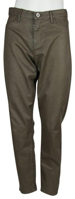 Item - Brown Coated Luxe Sateen Pants Size Petite 8 (M)