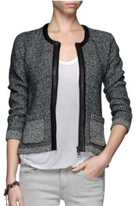 Rag & Bone Longsleeve Wool Leather Tweed Motorcycle Jacket