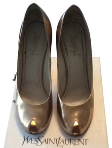 Saint Laurent Gold Pumps