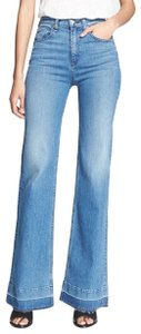 Rag & Bone Midrise Wide Flare Leg Jeans-Light Wash