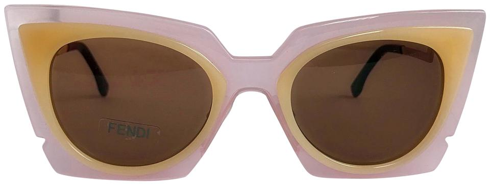 1fad2a3b36 Fendi FENDI ORCHIDEA CAT EYE PINK PEACH LAQUT SUNGLASSES FF 0117 S Image 0  ...