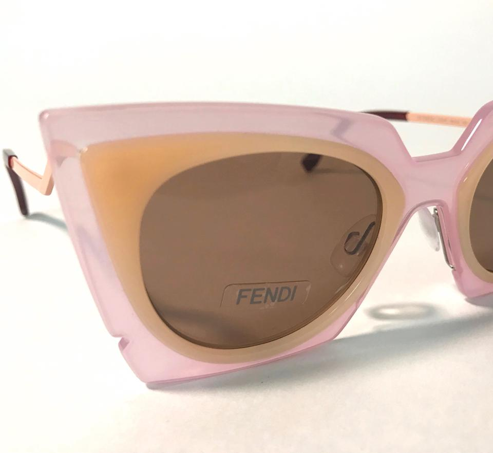 872df15a13 Fendi FENDI ORCHIDEA CAT EYE PINK PEACH LAQUT SUNGLASSES FF 0117 S Image 9.  12345678910