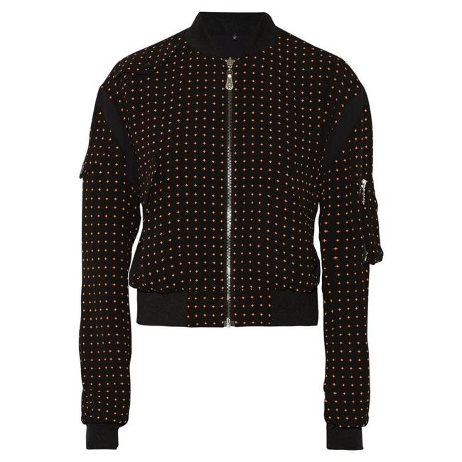 MCQ by Alexander McQueen Crepe Bomber Reversible Print Military Jacket