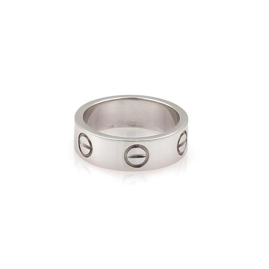 Cartier Love 18k White Gold 5.5mm Wide Band Ring Size EU 48-US 4.25