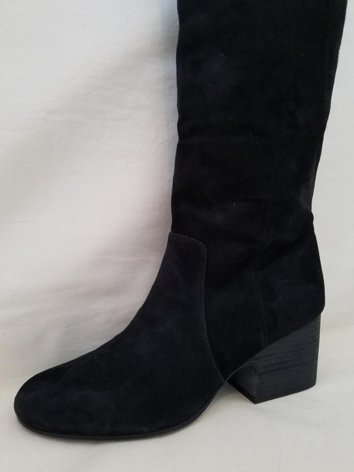 Black Tall Suede Boots Booties Eileen Fisher Tall Suede Boots Shoes