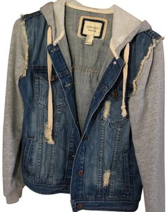 Forever 21 blue and grey Womens Jean Jacket