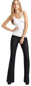 7 For All Mankind Flare Stretchy Trouser/Wide Leg Jeans-Dark Rinse