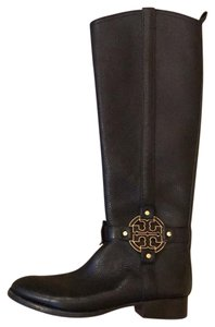 Tory Burch black with gold logo Boots