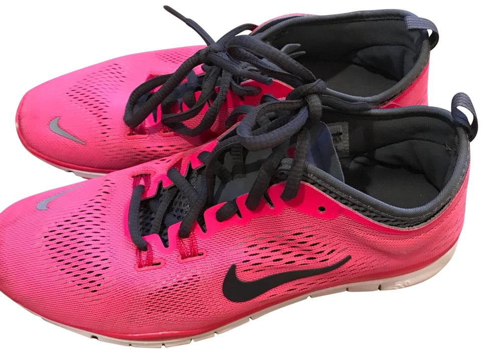 the latest 6a1c8 2b4db Nike Neon Pink with Gray Accents Free 5.0 Sneakers