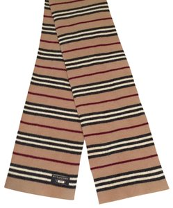Burberry London Striped lambswool scarf