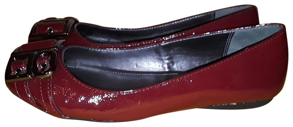 Women's Calvin Special Klein Patent Leather Flats Special Calvin function 4850c4