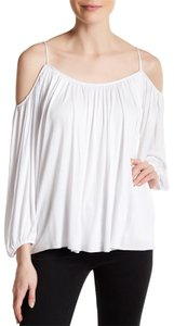 Bailey 44 Gathered Cold Shoulder Tee Casual Comfy Tunic