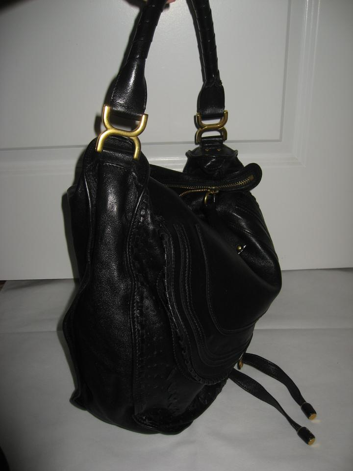 Braided Hobo Chloé Black Leather Lambskin Marcie Bag Large 1v4g4qwR