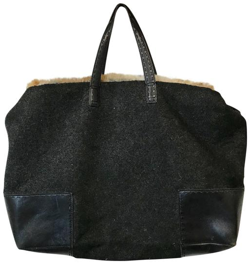Preload https://img-static.tradesy.com/item/22671160/cole-haan-fur-and-leather-gray-wool-satchel-0-2-540-540.jpg