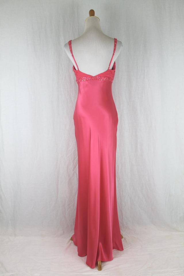 Adrianna Papell Salmon Beaded Silk 1930\'s Inspired Bias Cut Gown ...