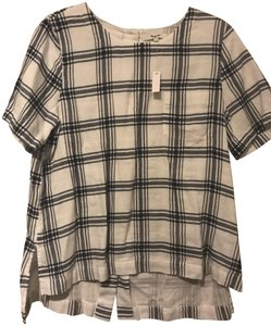 Madewell Industry Button Button Down Shirt black & white plaid