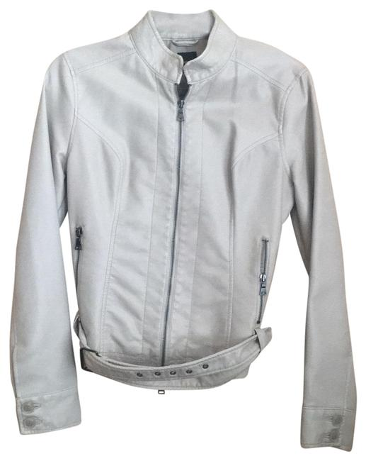 Express off white Leather Jacket Image 0