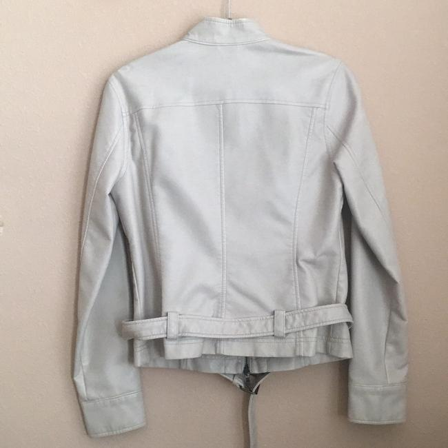 Express off white Leather Jacket Image 1